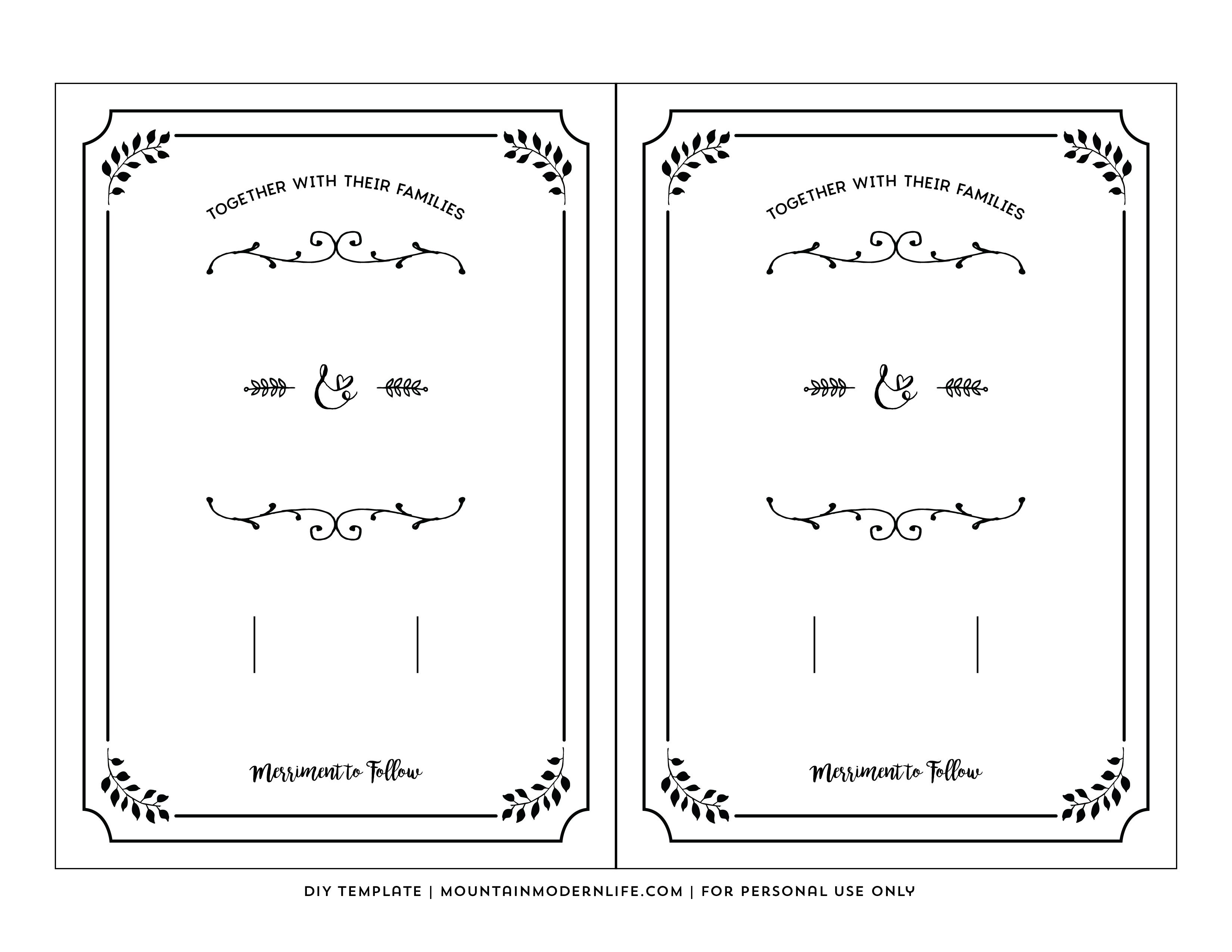 Free Printable Wedding Invitation Template - Free Printable Wedding Invitation Templates