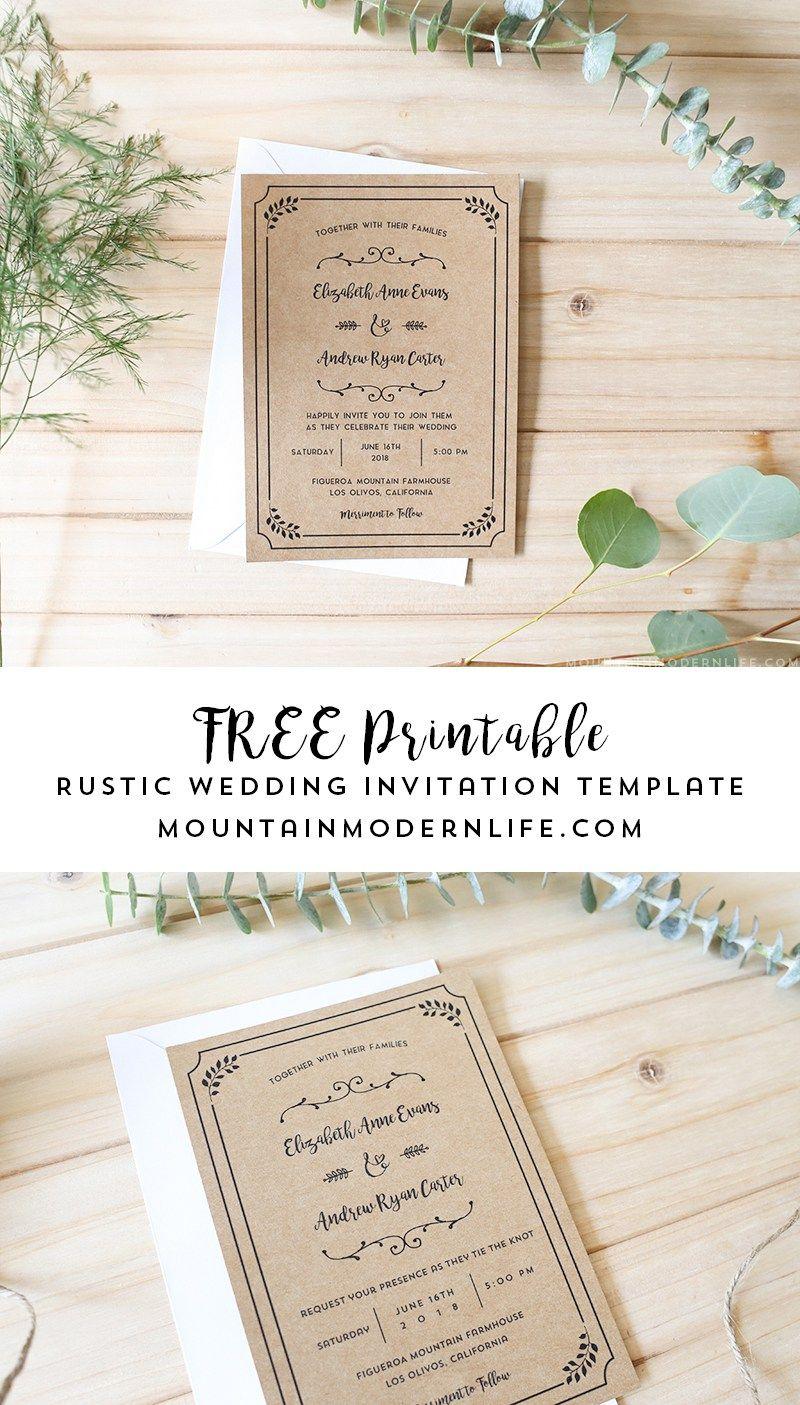 Free Printable Wedding Invitation Template | | Freebies - Free Printable Wedding Invitation Templates