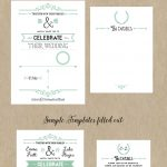 Free Printable Wedding Invitation Template | Wedding | Pinterest   Free Printable Enclosure Cards