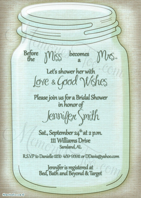 Free Printable Wedding Invitations Mason Jars | Rustic Wedding Ideas - Free Mason Jar Wedding Invitation Printable Templates