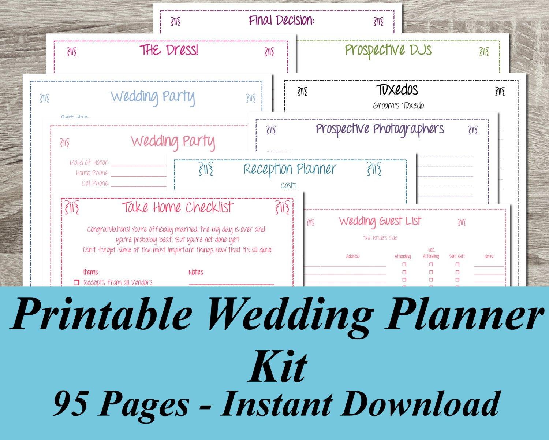 Free Printable Wedding Planner ~ Wedding Invitation Collection - Free Printable Wedding Planner Pdf