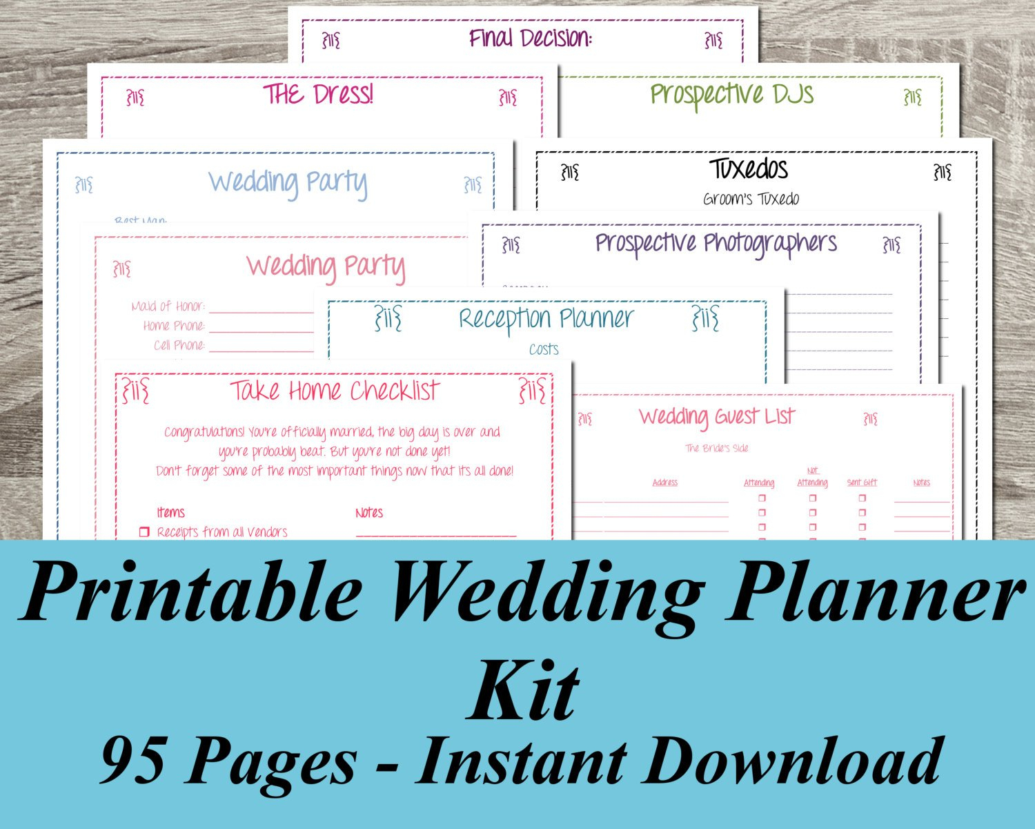 Free Printable Wedding Planner ~ Wedding Invitation Collection - Free Printable Wedding Planner Workbook