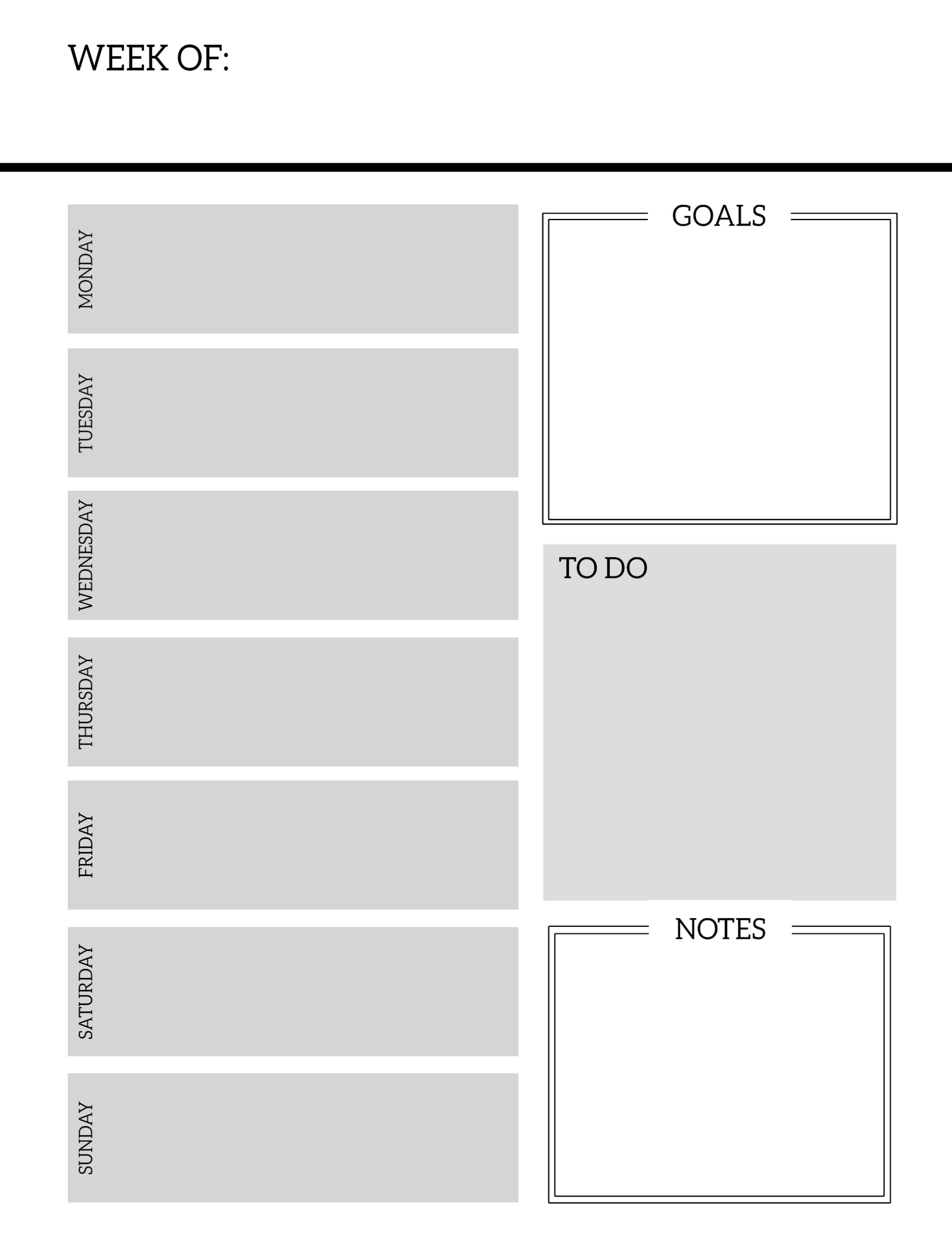Free Printable Weekly Schedule Planner Pages Paper Trail Design Page - Free Printable Weekly Planner 2017