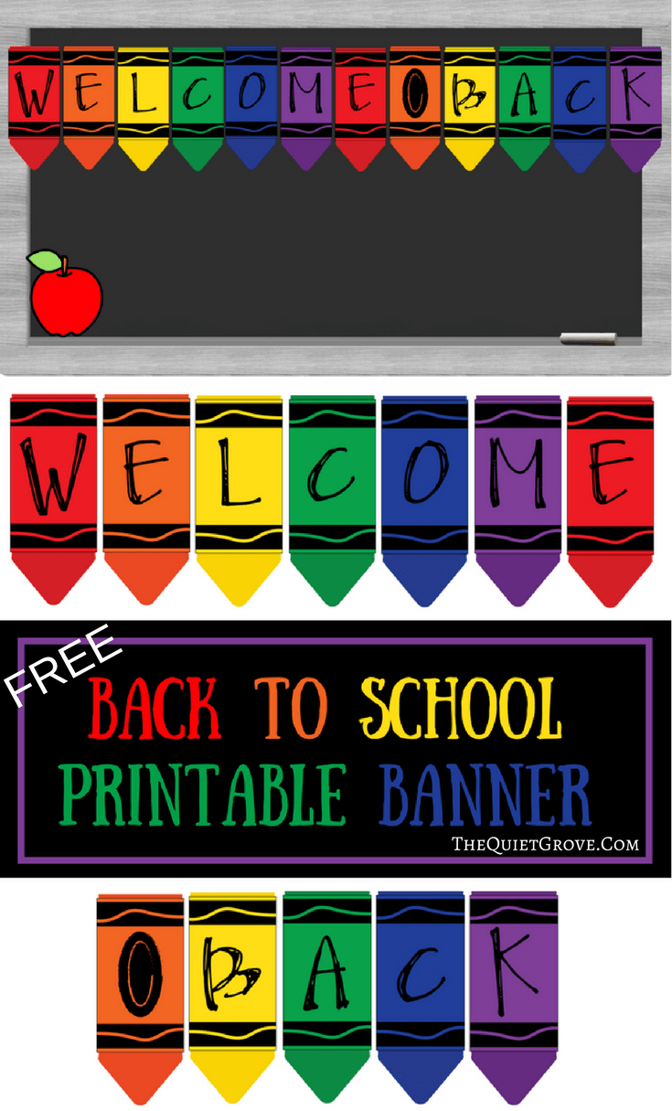 Free Printable Welcome Back To School Banner | The Best From - Welcome Back Banner Printable Free