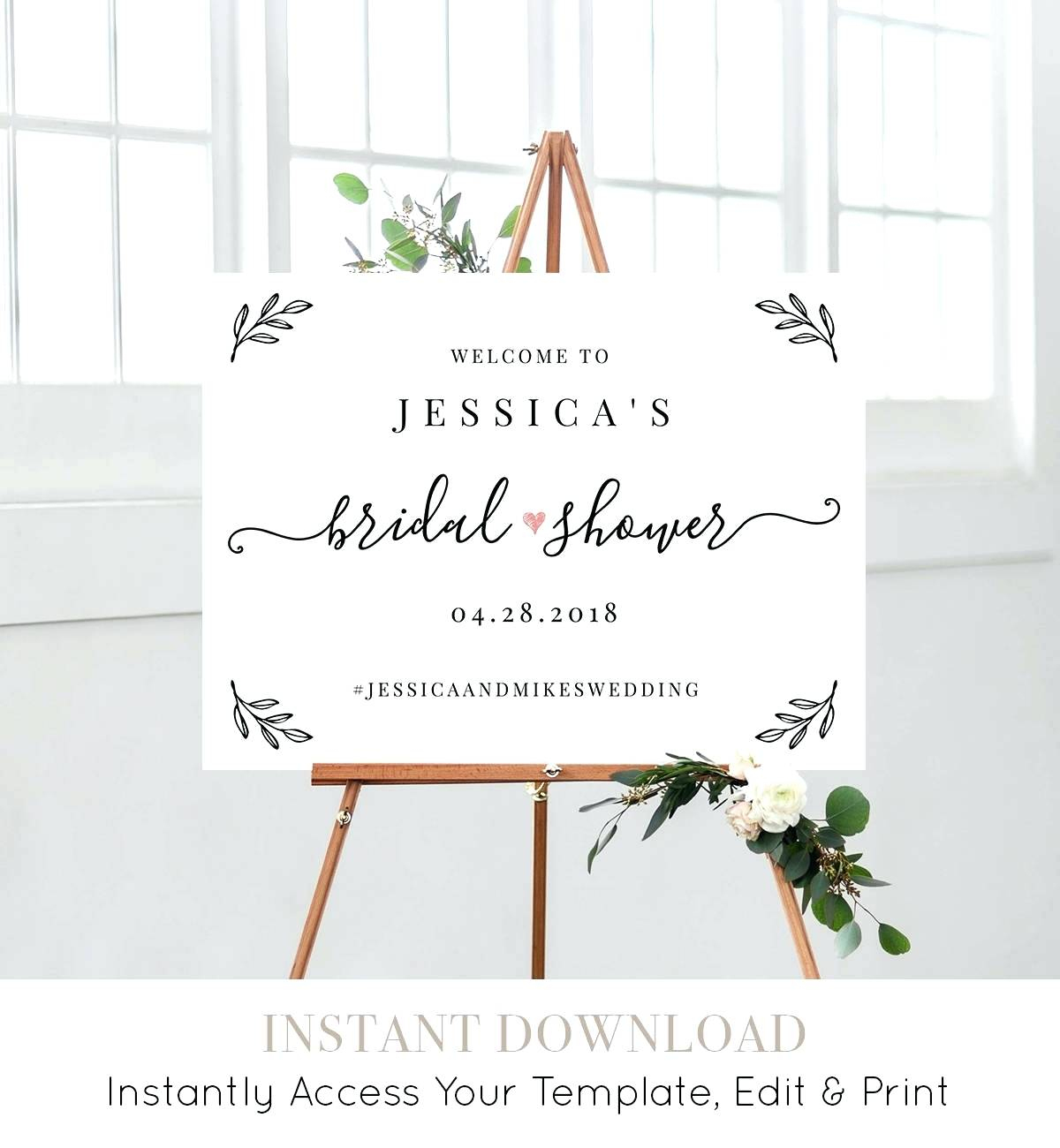 Free Printable Welcome Sign Template Welcome Baby Girl Shower Trench - Free Printable Welcome Sign Template