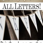 Free Printable – Whole Alphabet Banner!! | D.i.y Projects I May Or   Free Printable Banner Maker