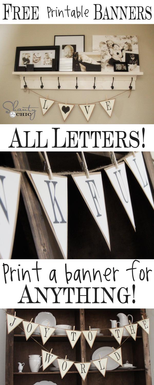 Free Printable Whole Alphabet Banner - Shanty 2 Chic - Free Printable Whole Alphabet Banner