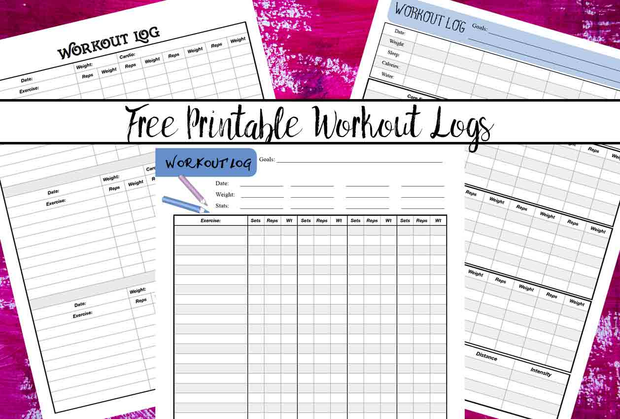 Free Printable Workout Logs: 3 Designs For Your Needs - Free Printable Workout Journal