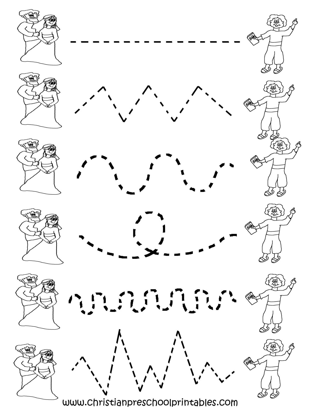 Free Printable Worksheets For Preschool | Preschool Tracing - Free Printable Preschool Worksheets Tracing Lines