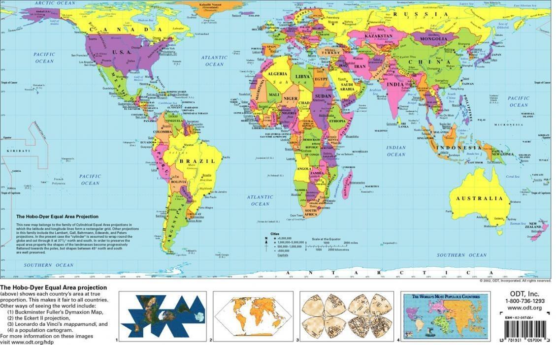 Free Printable World Map | Flygaytube - Free Printable World Map