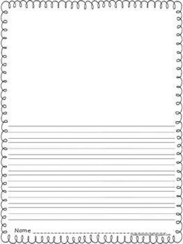 Free Printable Writing Paper With Picture Box | Free Printable - Free Printable Writing Paper With Picture Box