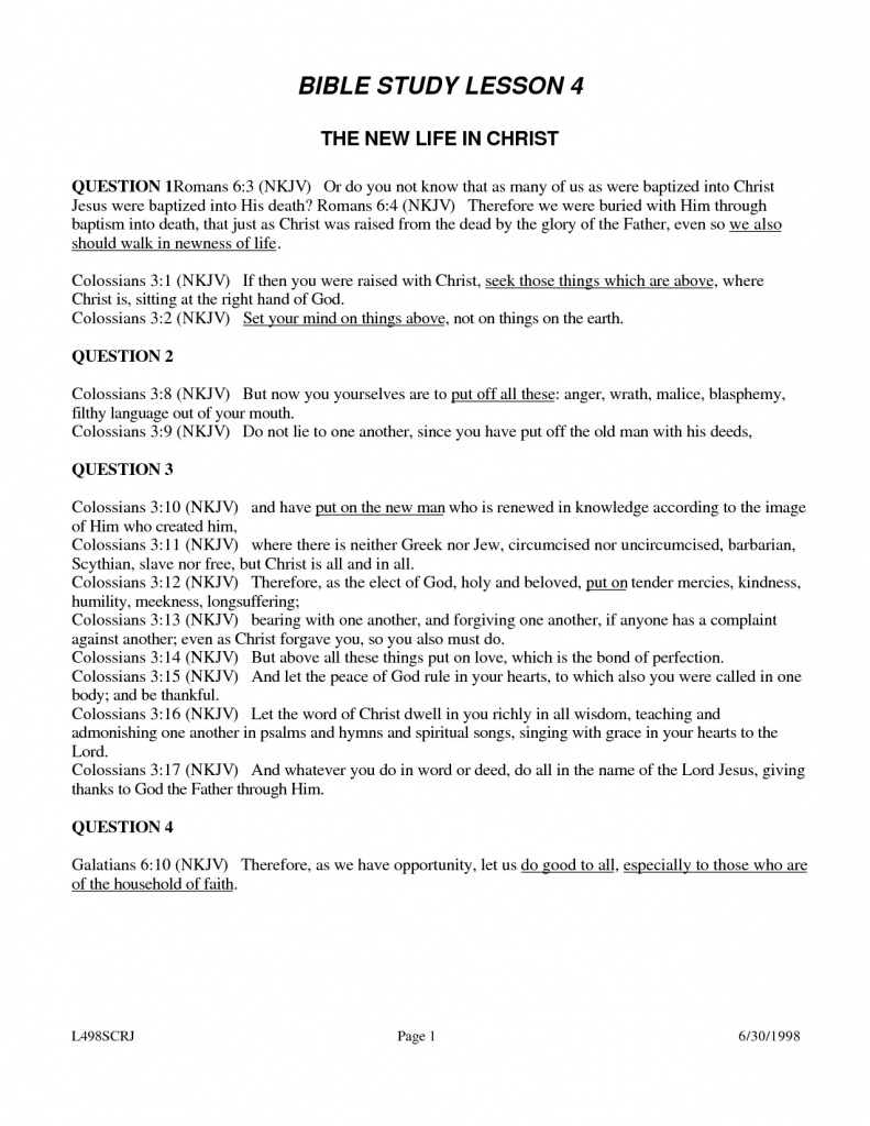 Free Printable Youth Bible Study Lessons | World Of Printable And - Free Printable Bible Studies For Adults