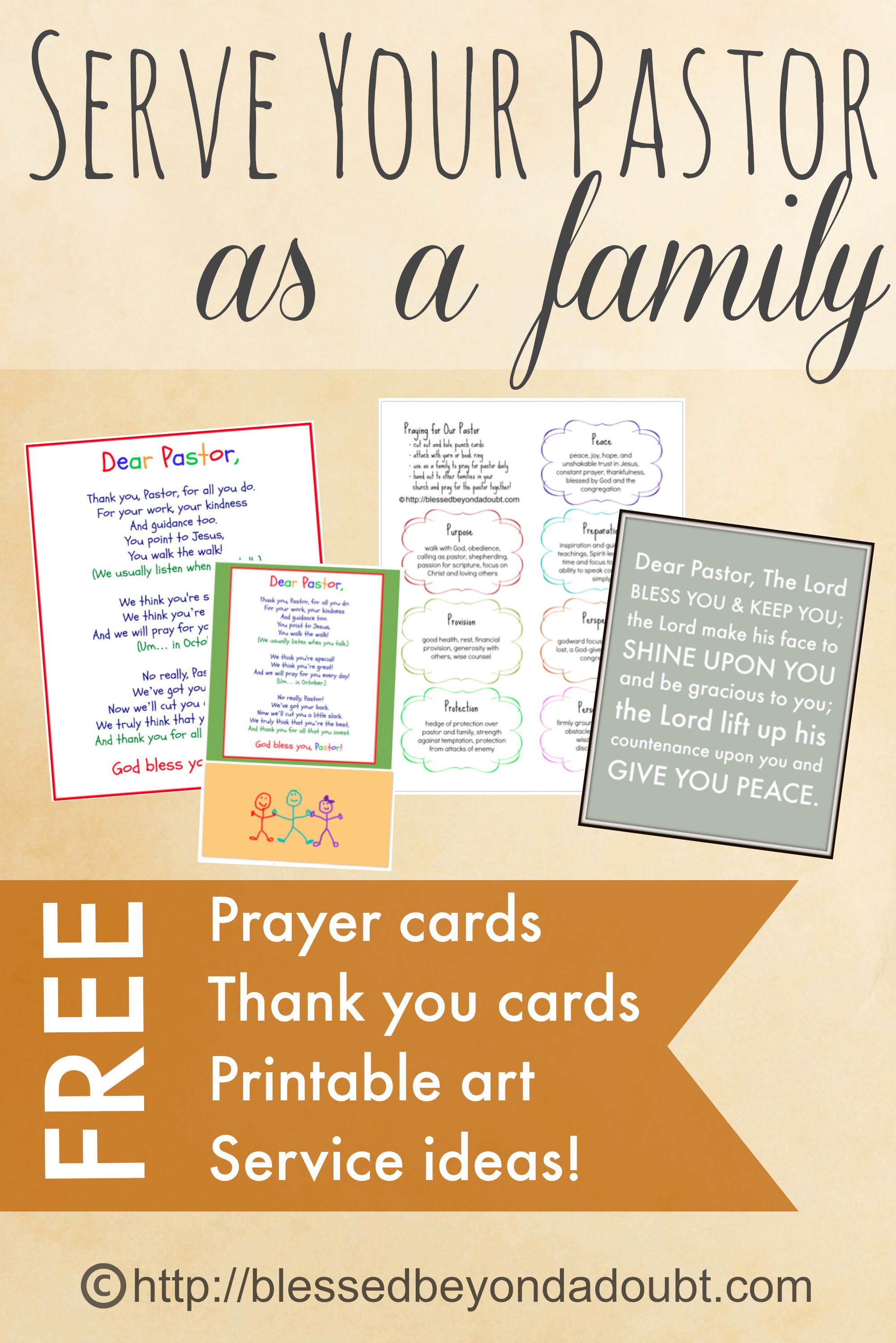 Free Printables And Fun Ideas For Serving Your Pastor - Pastor Appreciation Cards Free Printable