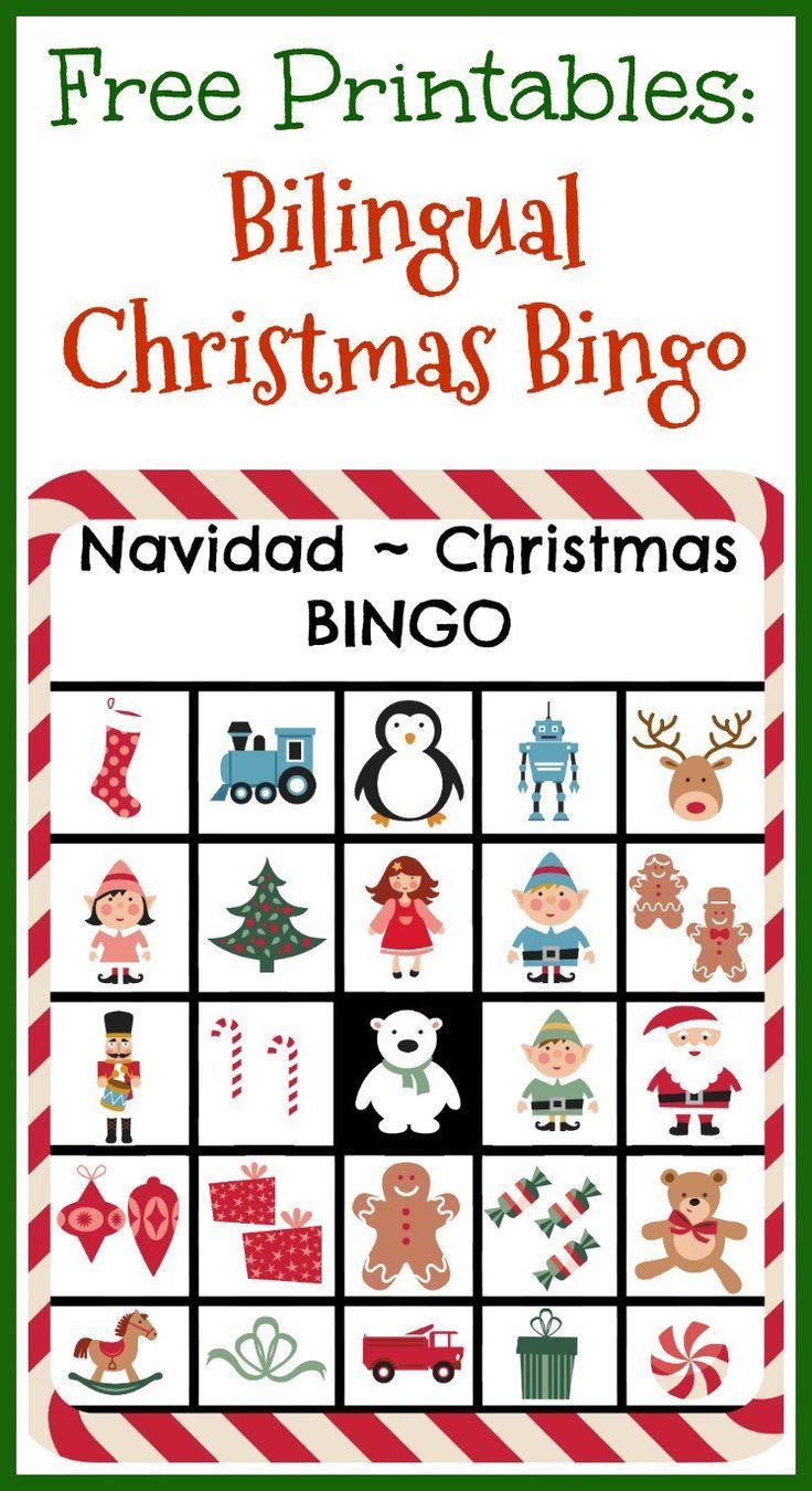 Free Printables: Bilingual Christmas Bingo | Christmas Play - Free Printable Spanish Bingo Cards
