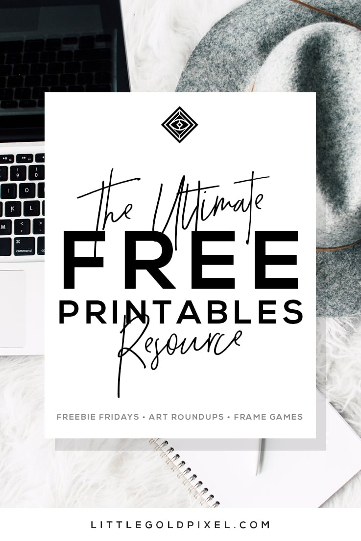 Free Printables • Design & Gallery Wall Resources • Little Gold Pixel - Free Printable Wall Art Black And White