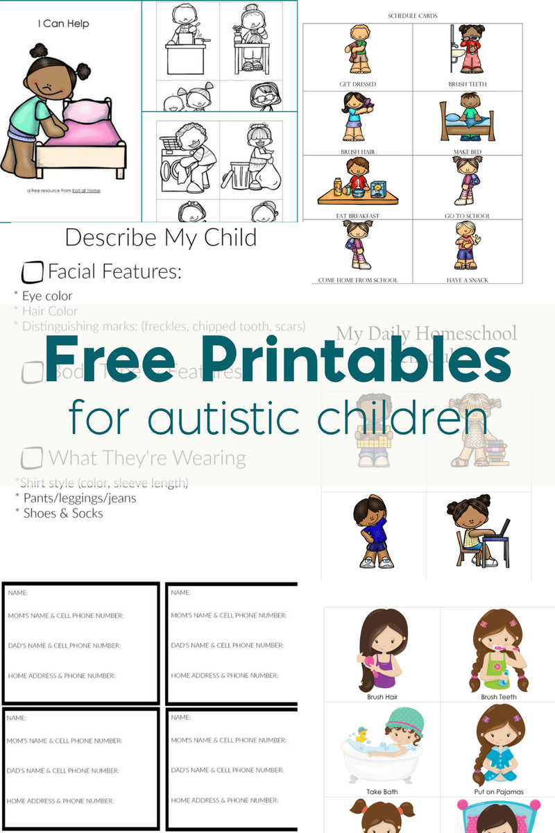 Free Printables For Autistic Children And Their Families Or Caregivers - Free Printable Autism Worksheets