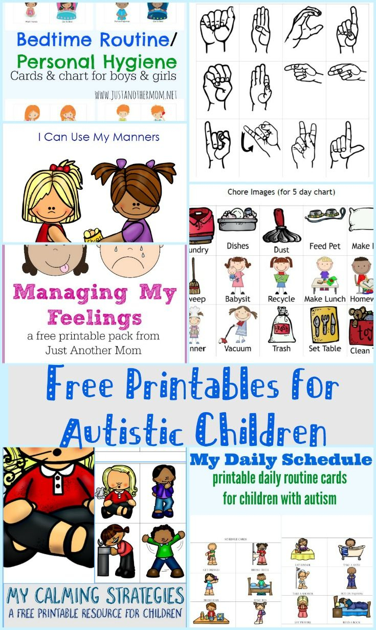 Free Printables For Autistic Children And Their Families Or - Free Printable Picture Schedule For Preschool