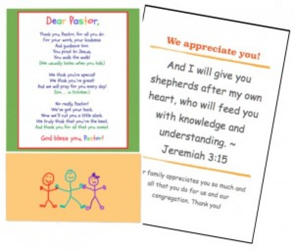 Free Printables For Pastor Appreciation Month! Inside Pastor - Pastor Appreciation Cards Free Printable