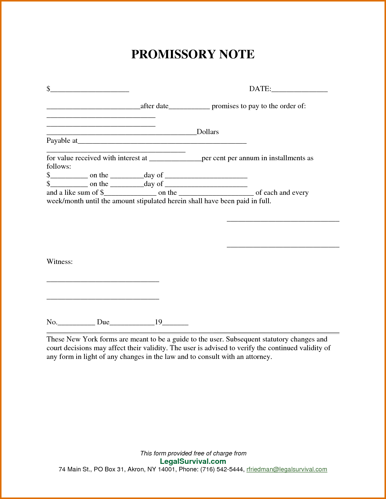 Free Promissory Notelate For Personal Loan Agreement Contract Word - Free Printable Promissory Note For Personal Loan
