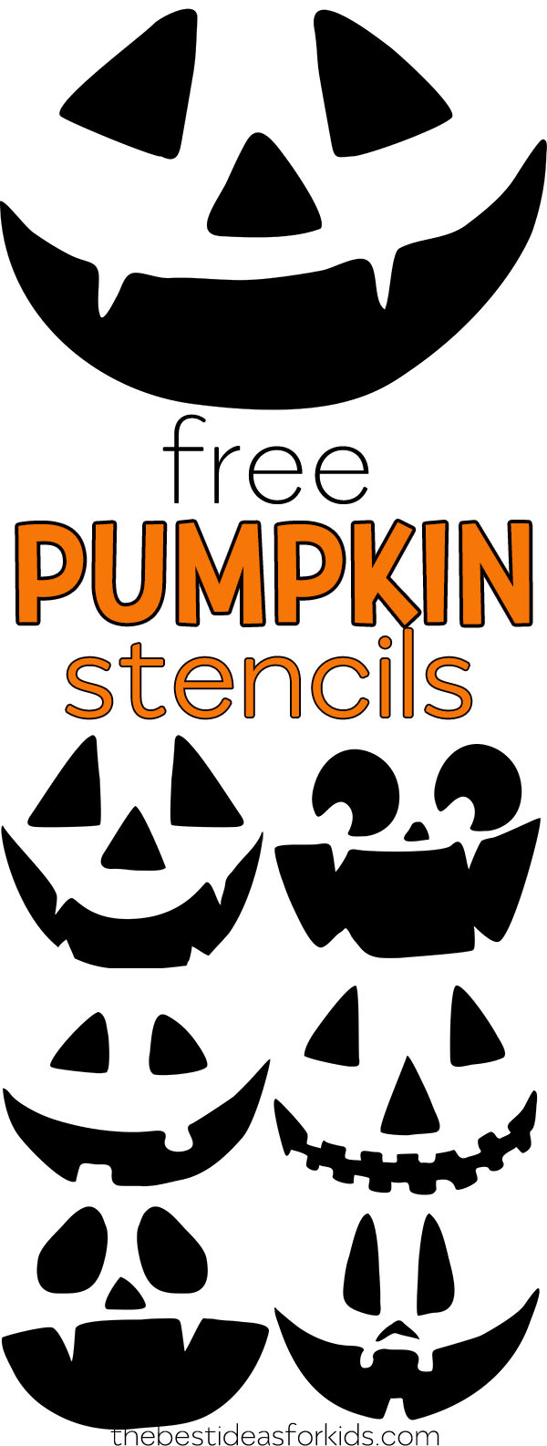 Free Pumpkin Carving Stencils - The Best Ideas For Kids - Free Pumpkin Printable Carving Patterns