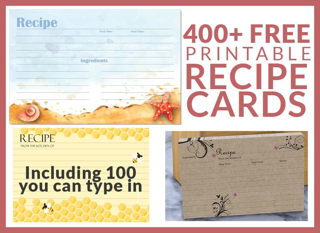 Free Recipe Cards - Cookbook People - Free Printable Recipes