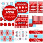 Free Reindeer Games Party Printables From Printabelle | Catch My Party   Free Printable Christmas Party Signs