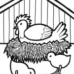 Free Rooster Pictures To Print | Farm Animal Printable Coloring   Free Printable Barn Coloring Pages
