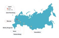 Free Russia Powerpoint Map – Free Powerpoint Templates – Free Printable Map Of Russia