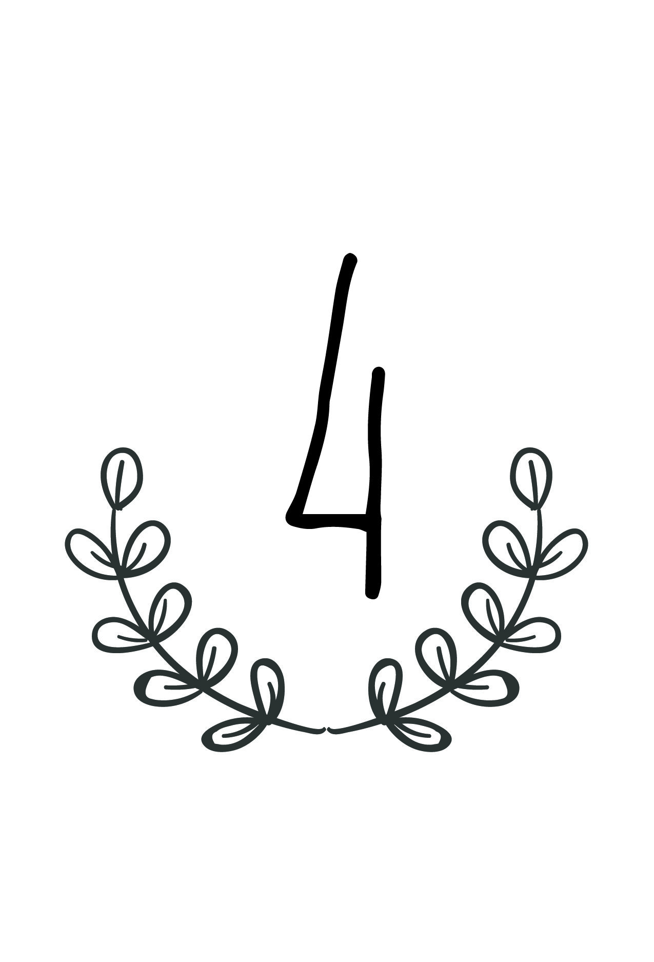 Free Rustic Wedding Table Number Printable | Future Wedding - Free Printable Table Numbers