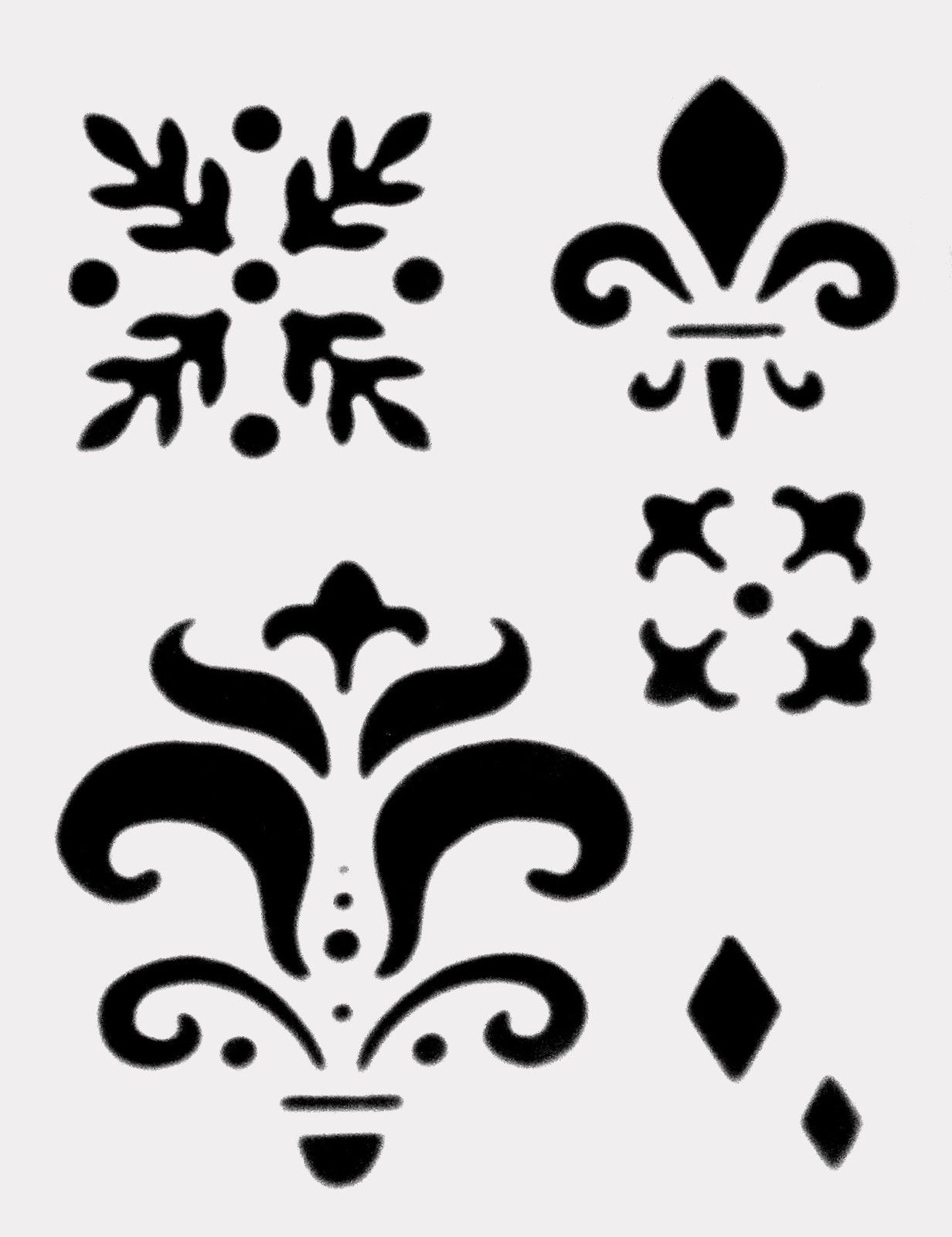 Free Saints Fleur De Lis Stencil, Download Free Clip Art, Free Clip - Damask Stencil Printable Free