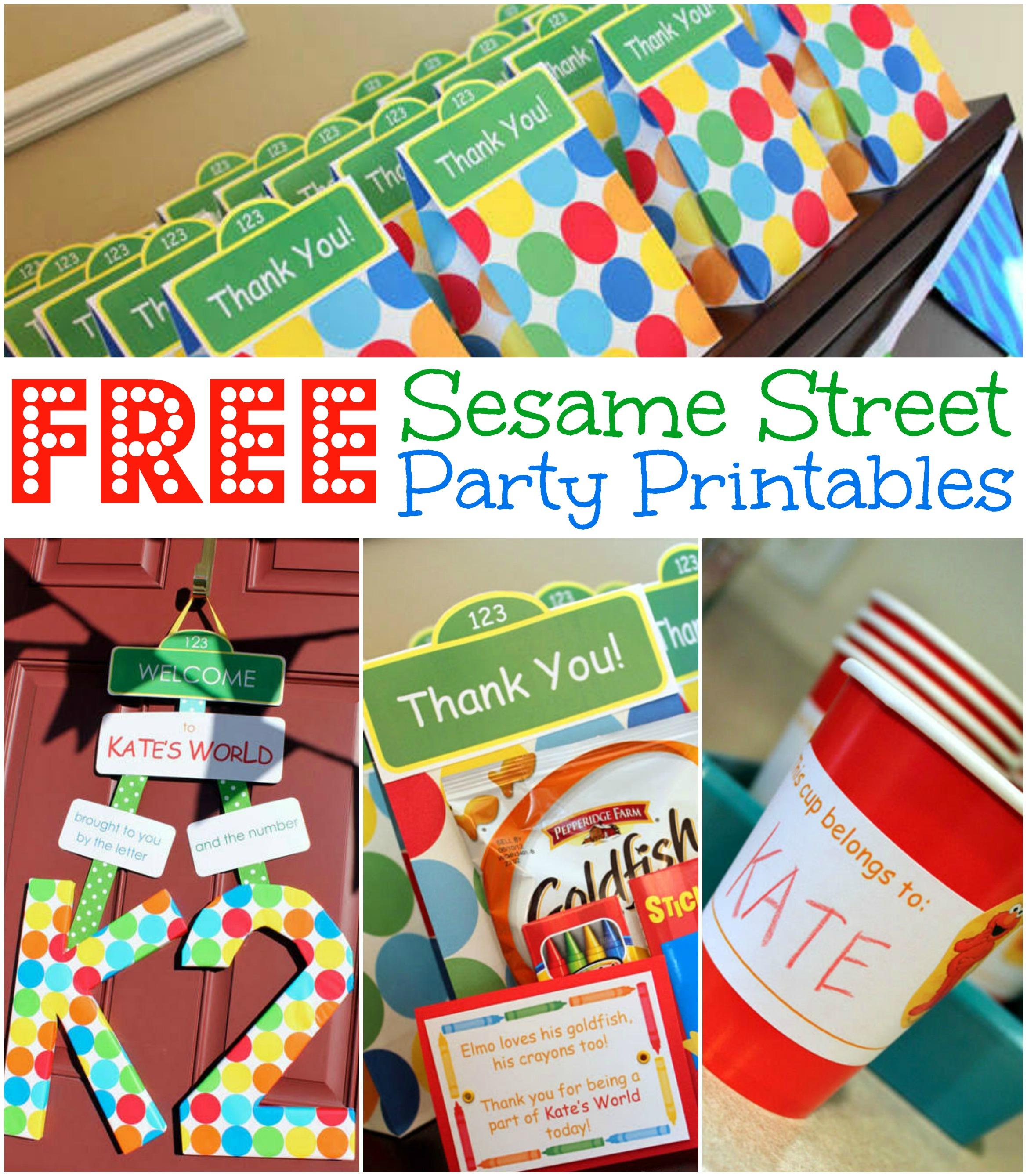 Free Sesame Street Birthday Party Printables - Free Printable Sesame Street Cupcake Toppers