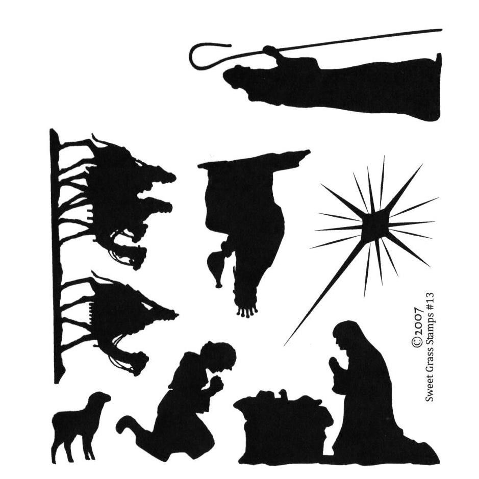 Free Silhoutte Nativity Scene Patterns | Christmas Nativity - Free Printable Nativity Silhouette