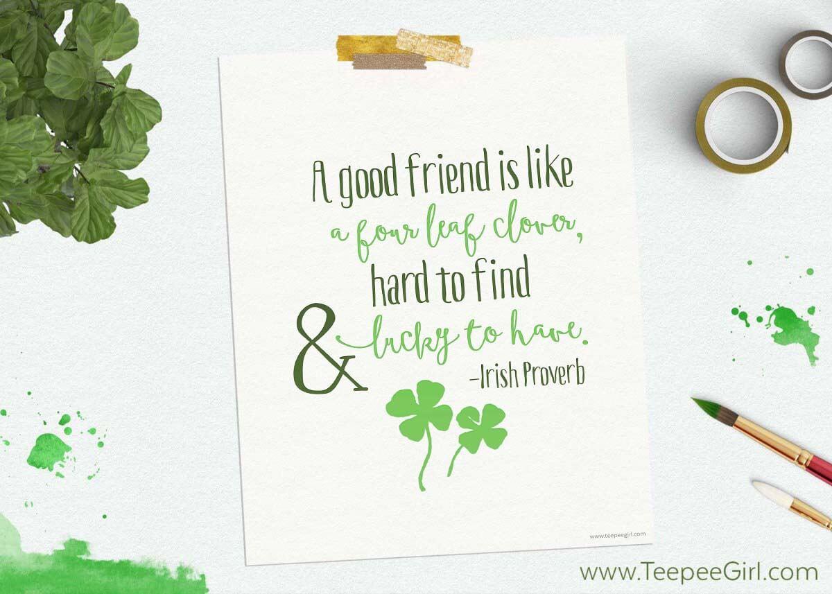 Free-St-Patricks-Day-Printable - Free Printable St Patricks Day Stationery