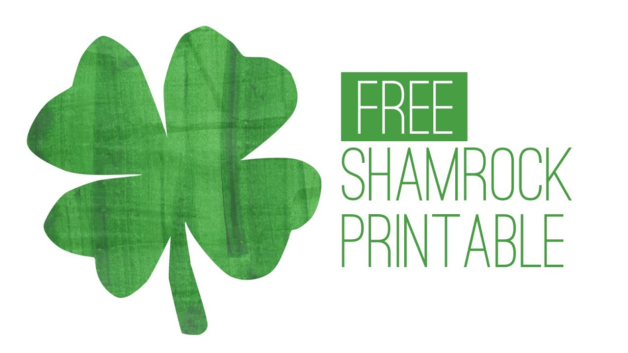 Free St. Patrick's Day Printable - Shamrock Print - Youtube - Free Printable Shamrocks