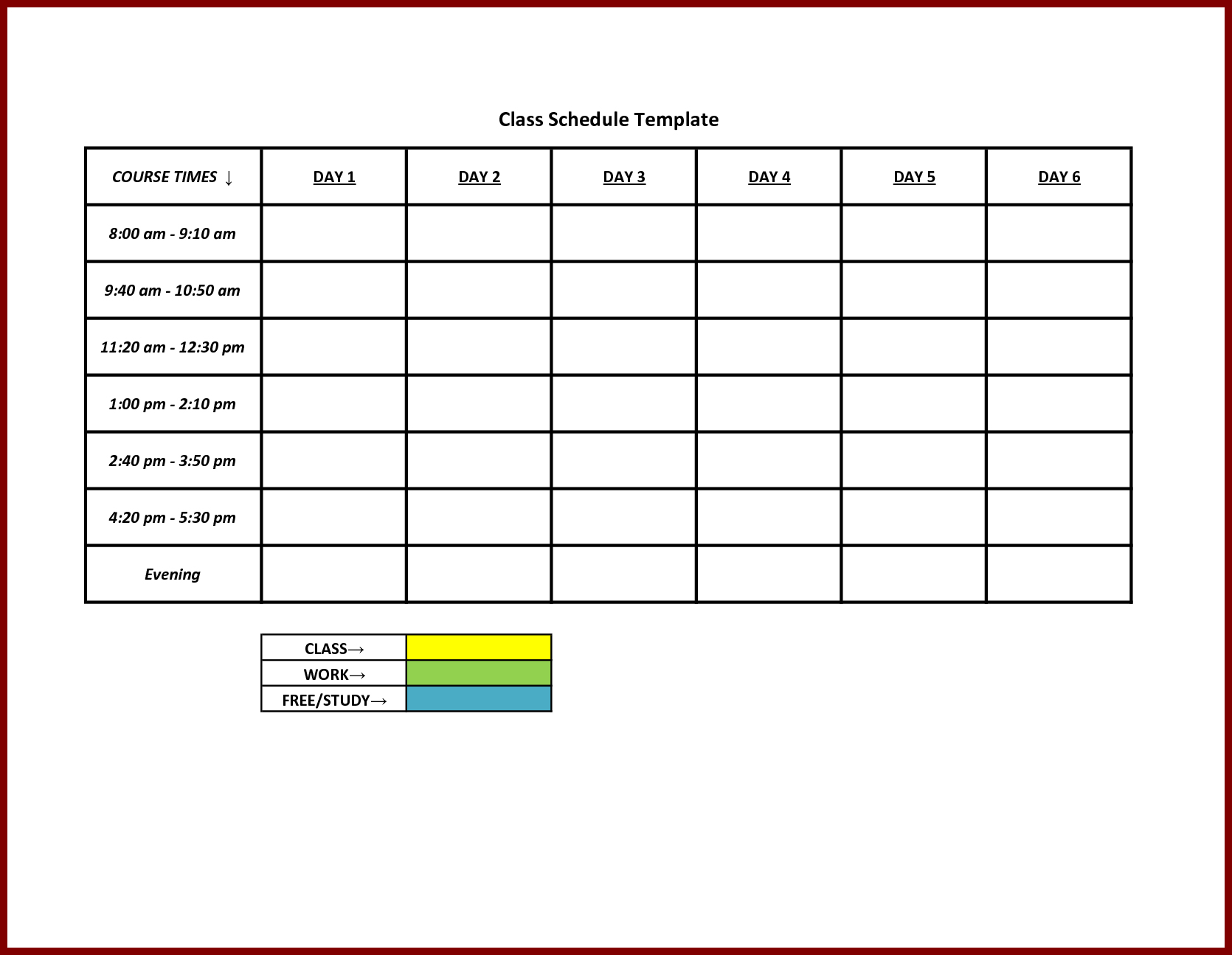 Free Staff Schedule Template For | Smorad - Free Printable Blank Work Schedules