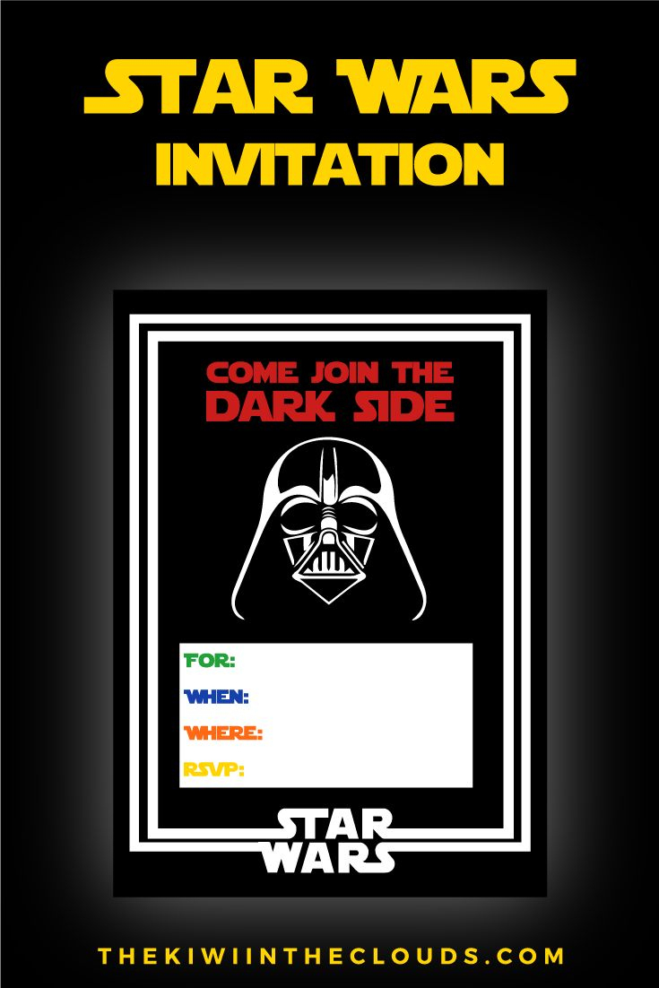 Free Star Wars Party Printables: A No-Stress Way To A Galactic Party - Star Wars Invitations Free Printable