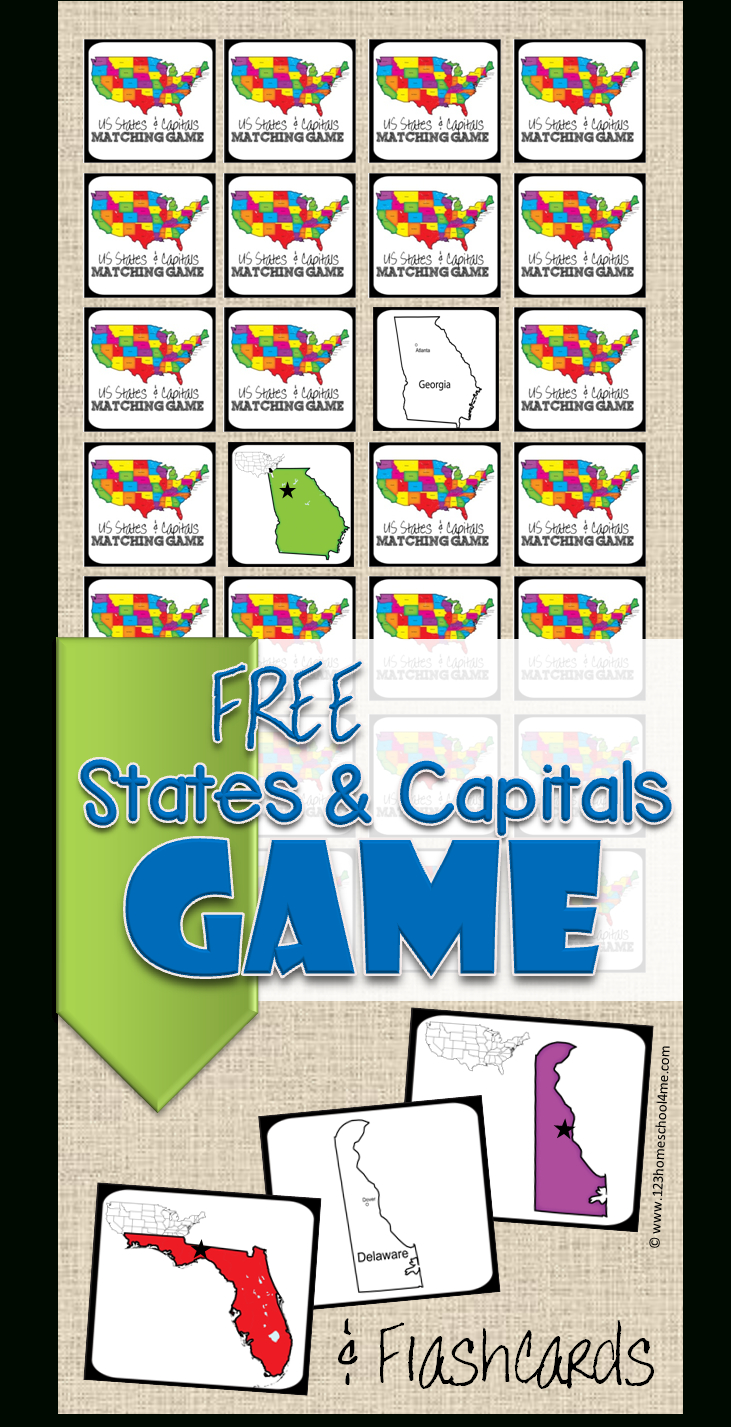 Free State Capitals Game | 123 Homeschool 4 Me - Free Printable States And Capitals Worksheets