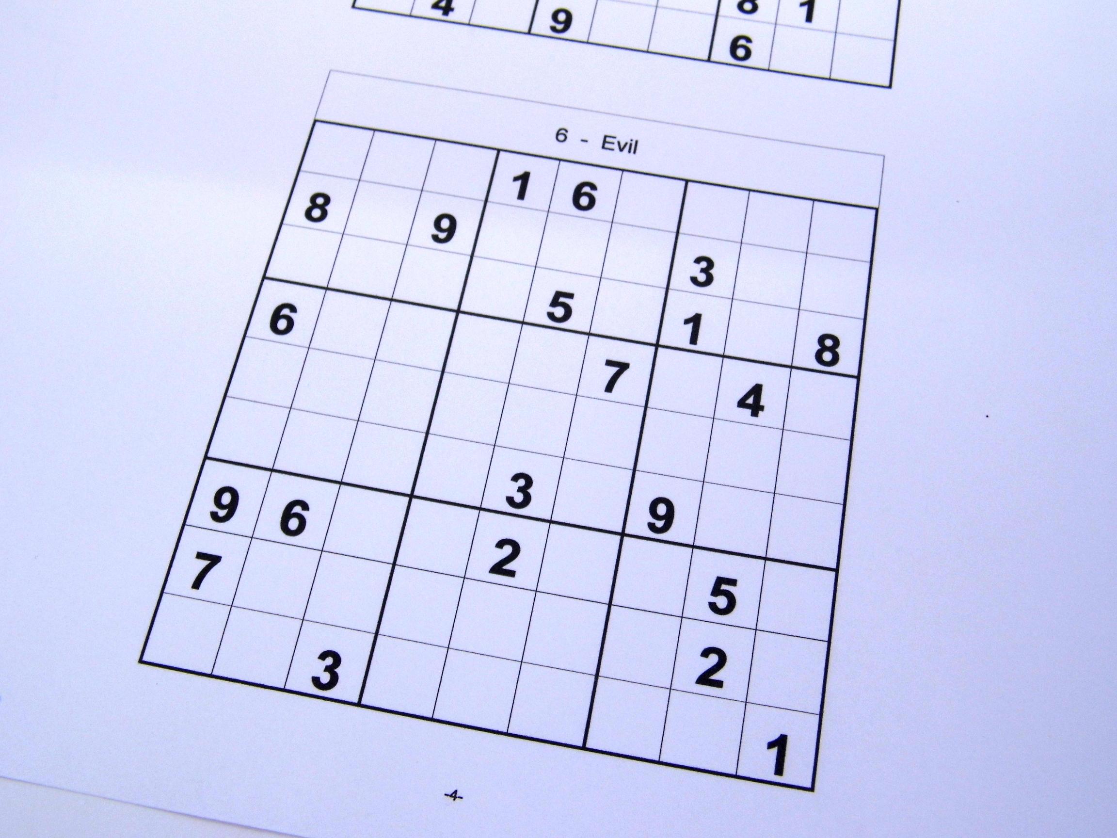 Free Sudoku Puzzles – Free Sudoku Puzzles From Easy To Evil Level - Free Printable Sudoku Books