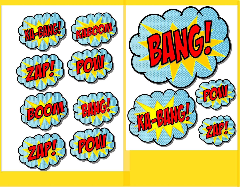 Free Superhero Printables, Download Free Clip Art, Free Clip Art On - Free Printable Superhero Words