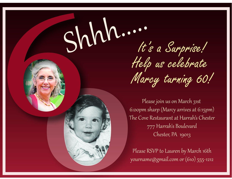 Free Surprise 60Th Birthday Party Invitation – Invitetown   Projects - Free Printable Surprise 60Th Birthday Invitations