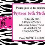 Free Sweet 16 Birthday Invitation Templates | Birthday Ideas   Free Printable 16Th Birthday Party Invitation Templates