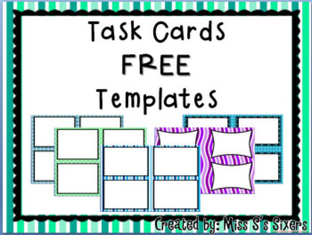 Free Task Card Templatesmiss S's Sixers | Teachers Pay Teachers - Free Printable Blank Task Cards
