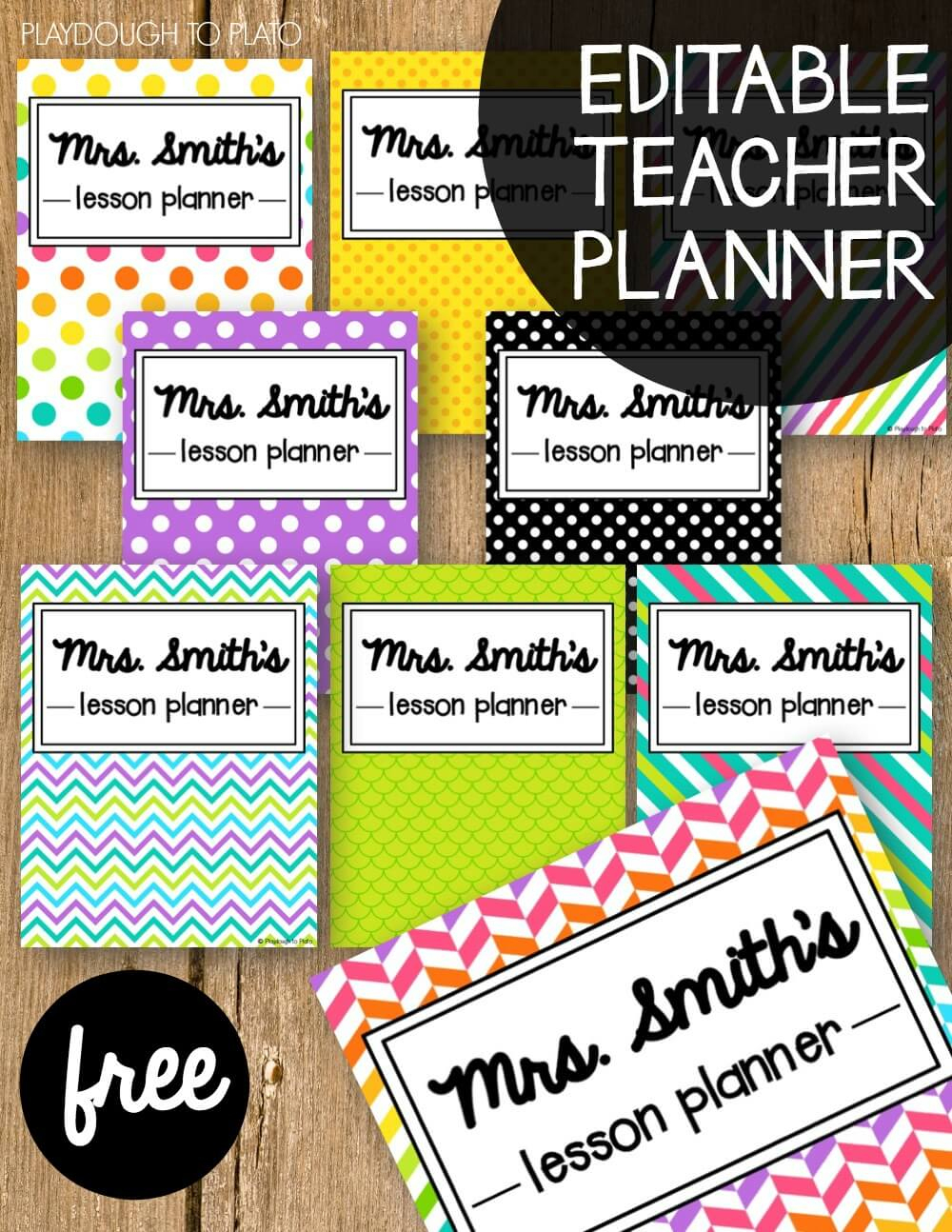 Free Teacher Planner - Playdough To Plato - Free Printable Teacher Planner Pages