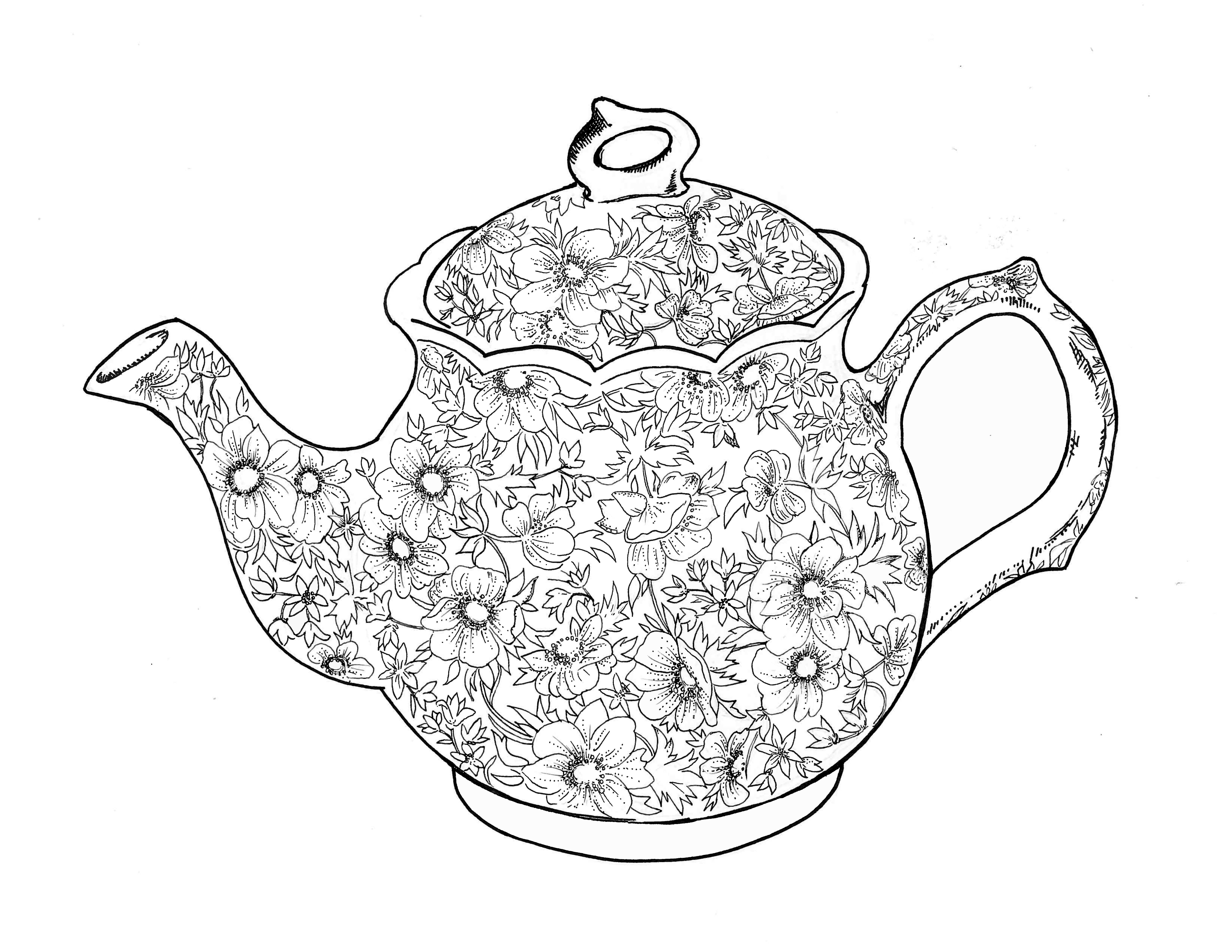 Free Teapot Coloring Book, Download Free Clip Art, Free Clip Art On - Free Teapot Printable