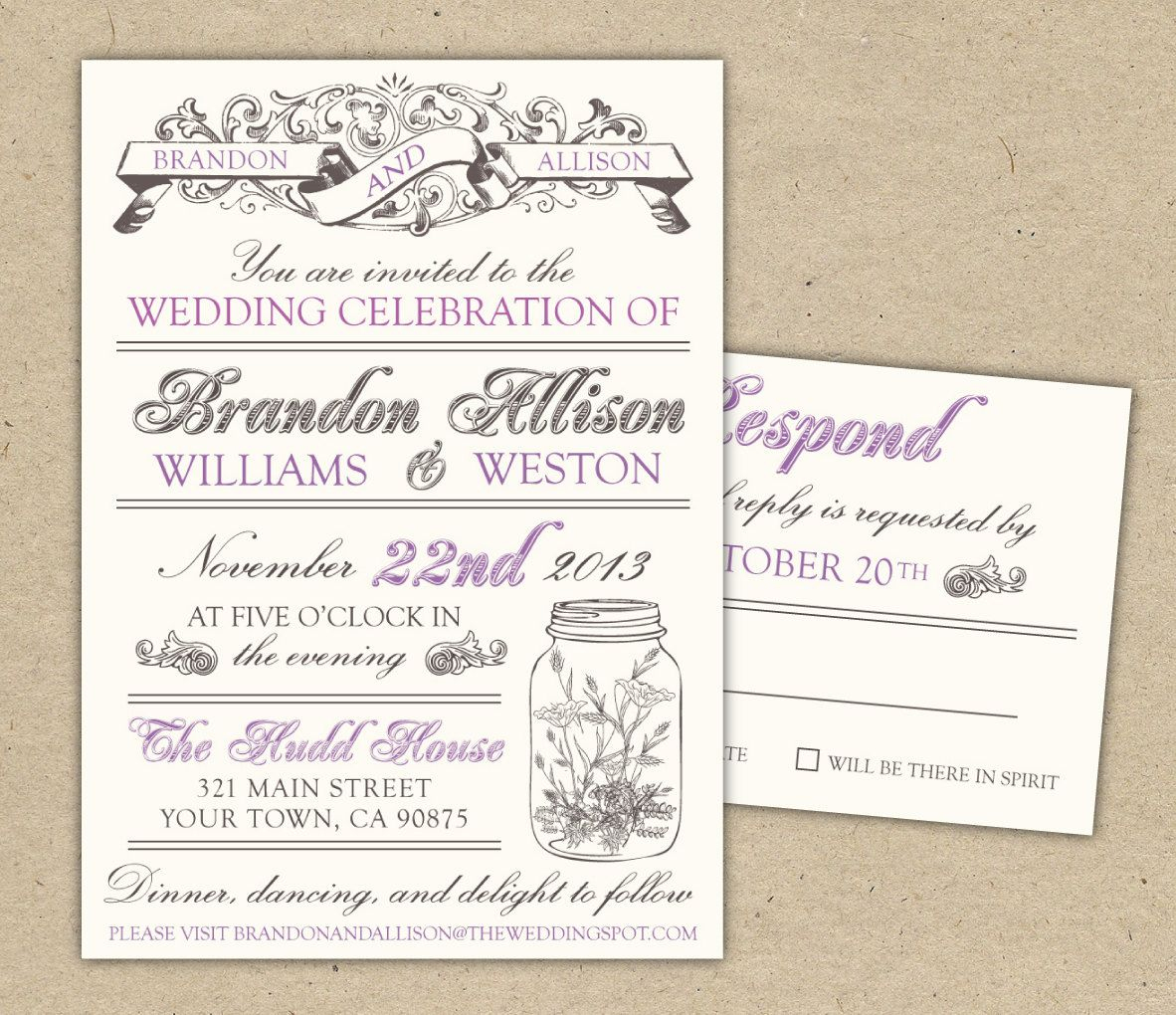 Free Templates For Invitations | Free Printable Vintage Wedding - Free Printable Wedding Invitation Templates For Word