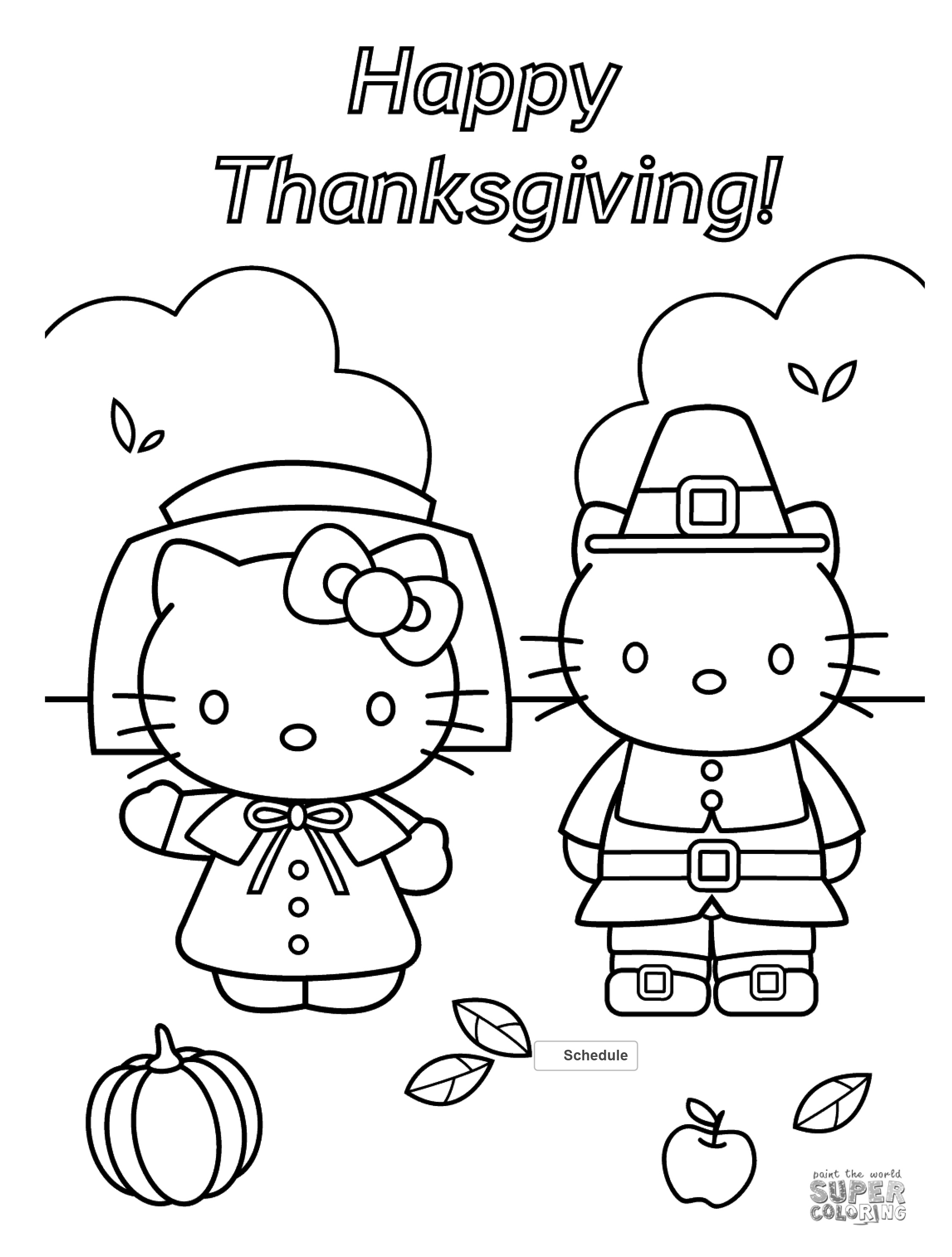 Free Thanksgiving Coloring Pages For Adults & Kids - Happiness Is - Free Printable Thanksgiving Coloring Pages