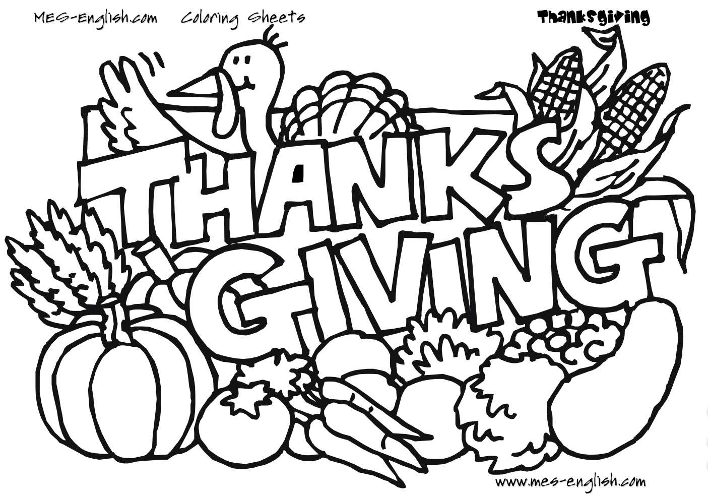 Free Thanksgiving Coloring Pages For Kids - Free Printable Thanksgiving Coloring Pages