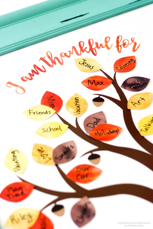 Free Thanksgiving Printable Thankful Tree - I Heart Nap Time - Free Printable Thanksgiving Images