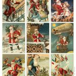 Free To Download! Printable Vintage Santa Tags Or Cards. | Free   Free Printable Xmas Cards Download