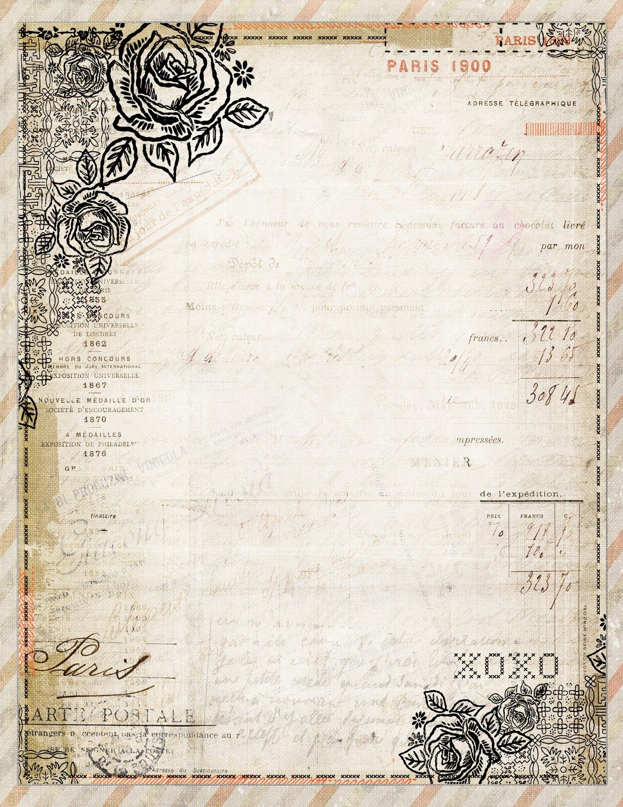Free To Download! Printable Vintage Style French Stationaryjodie - Free Printable Paper